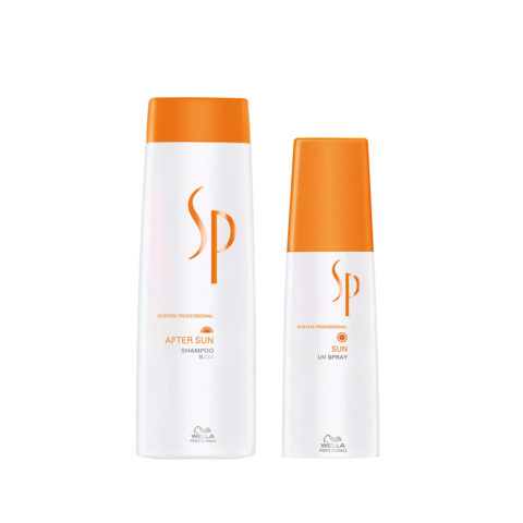 Wella System Professional After sun kit shampoo 250ml   Sun uv spray 125ml