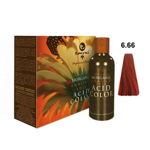 6.66 Deep dark blonde red Tecna NCC Biorganic acid color 3x130ml