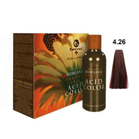 4.26 Medium auburn violet Tecna NCC Biorganic acid color 3x130ml