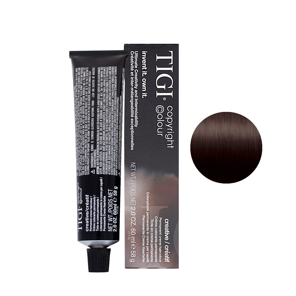 4/85 Mahogany brown Tigi Creative 60ml