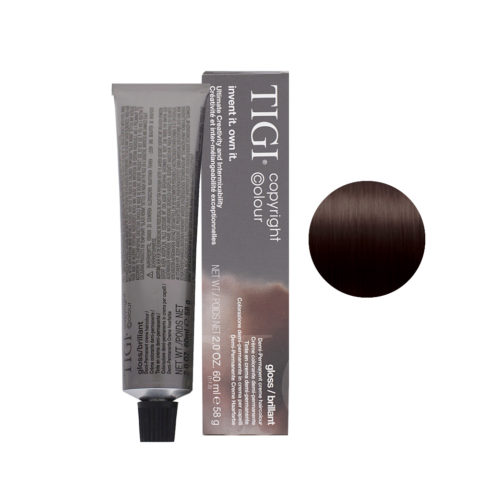 4/85 Smokey mahogany brown Tigi Gloss 60ml