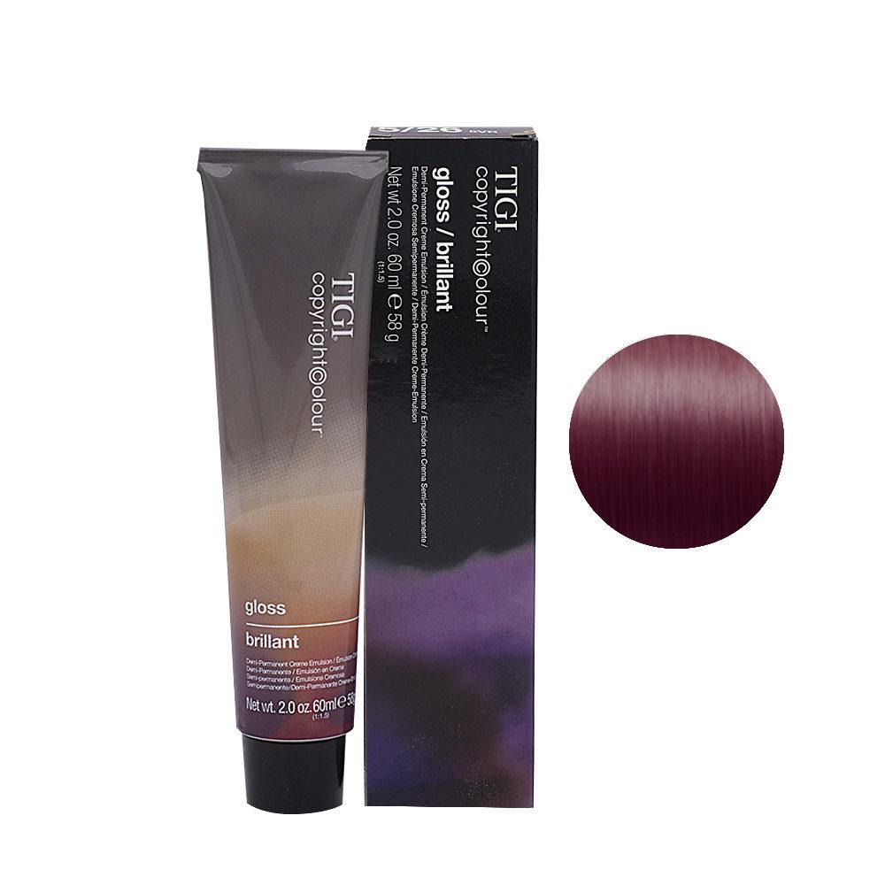 5/26 Light violet red brown Tigi Gloss 60ml
