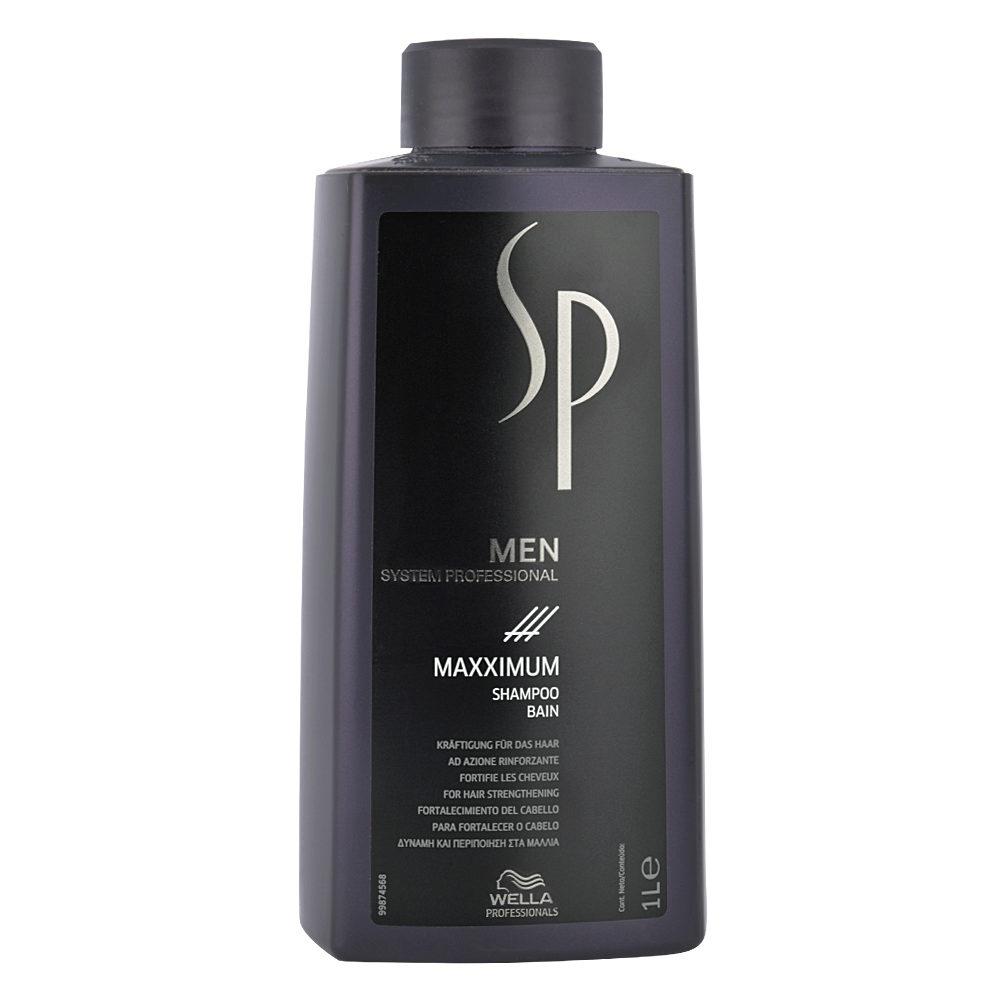 Wella SP Men Maxximum Shampoo 1000ml - anti hairloss