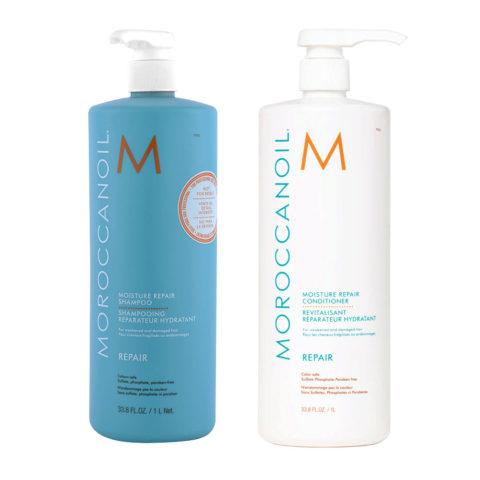 Moroccanoil Kit6 Moisture Repair Shampoo e Conditioner 1000ml