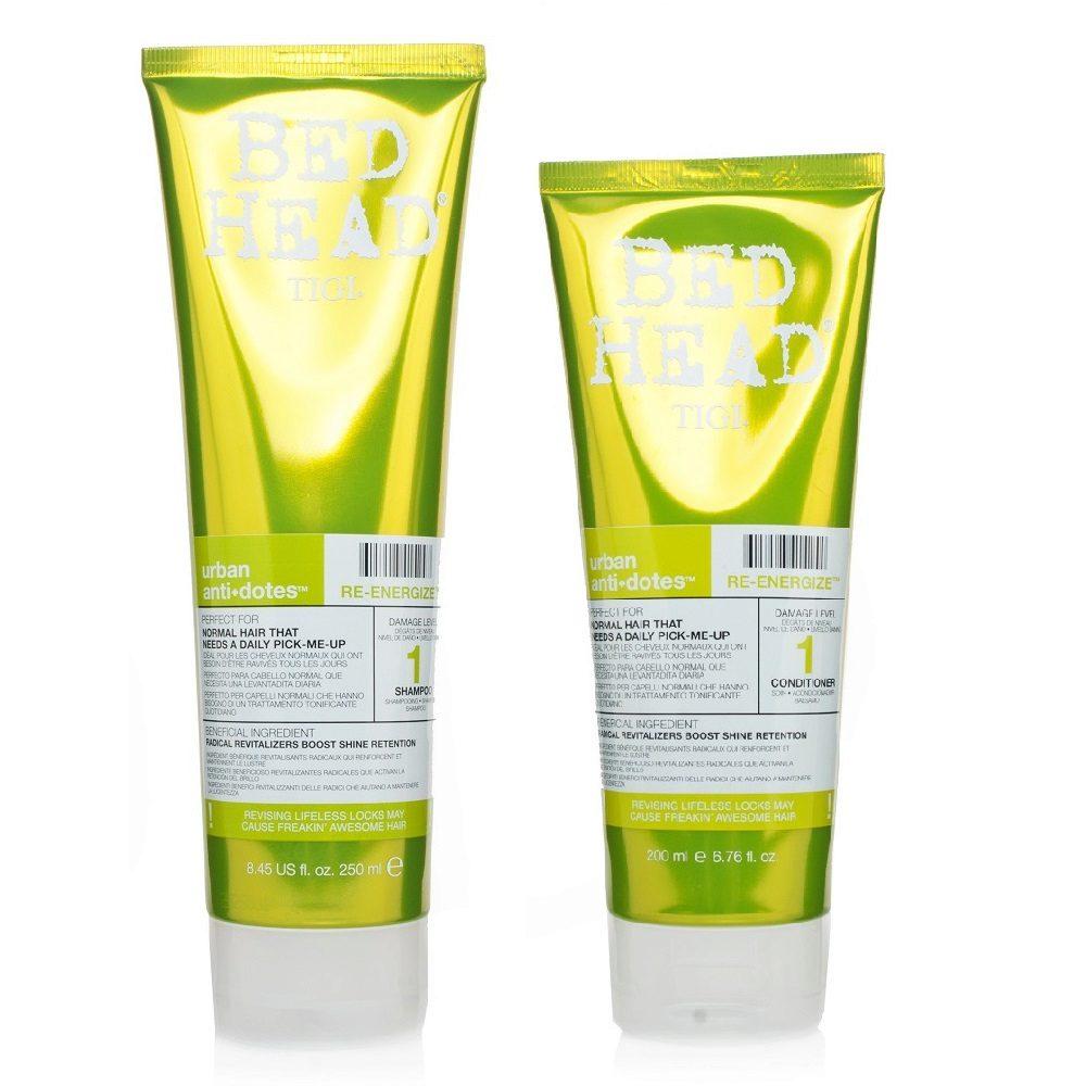 Tigi Urban Antidotes Kit Re-Energize Conditioner 200ml Shampoo 250ml