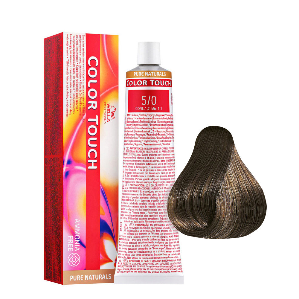5/0 Chestnut Intense Clear Wella Color Pure Naturals Touch ammonia free 60ml