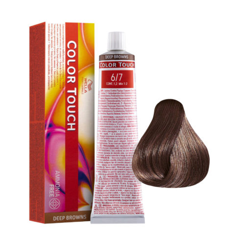 6/7 Dark Brunette Blonde Wella Color Touch Deep Browns ammonia free 60ml