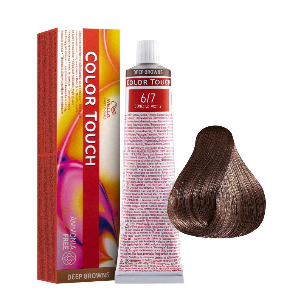 6/7 Dark Brunette Blonde Wella Color Touch Deep Browns ammonia free 60ml