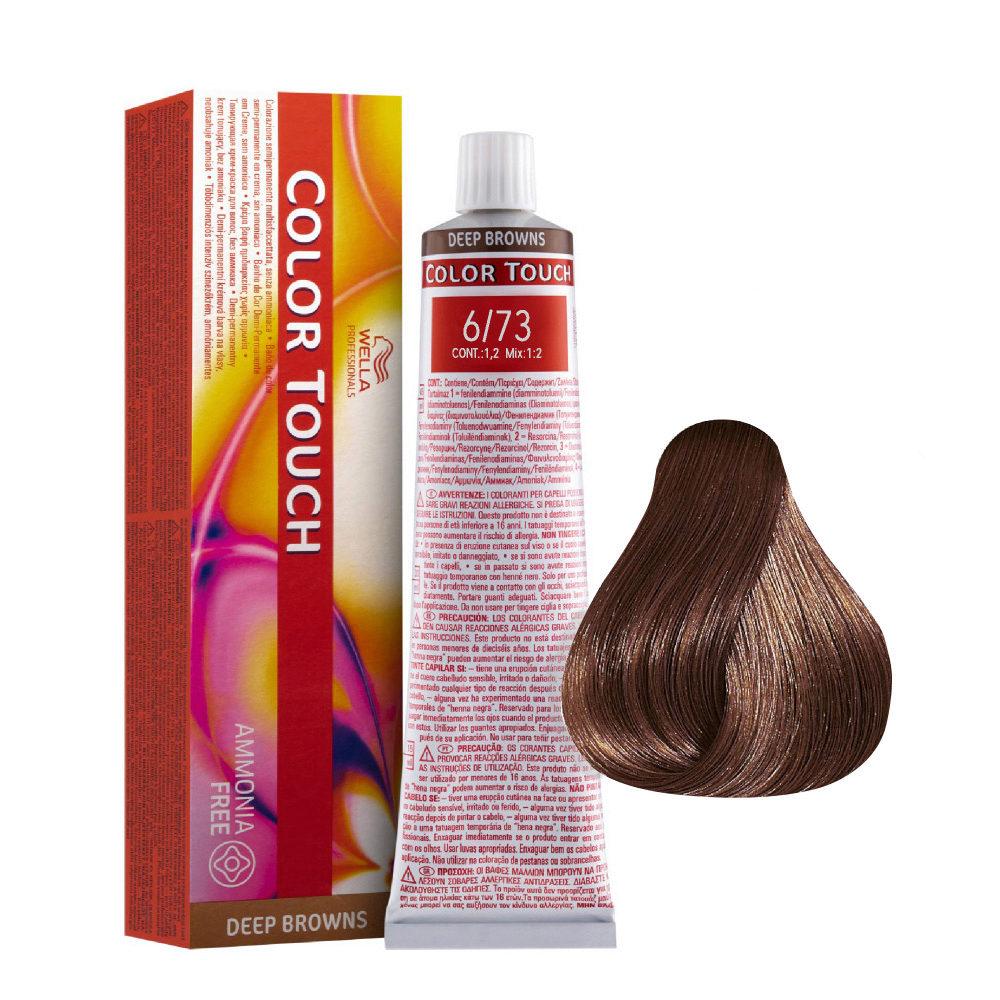 6/73 Dark Brunette Gold Blonde Wella Color Touch Deep Browns ammonia free 60ml