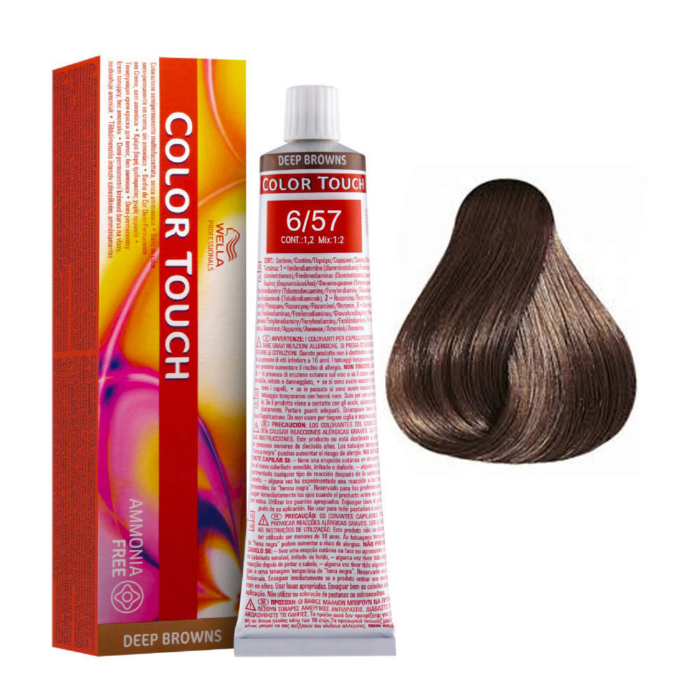 6/57 Dark blond sand mahogany Wella Color Touch Vibrant Reds ammonia free 60ml