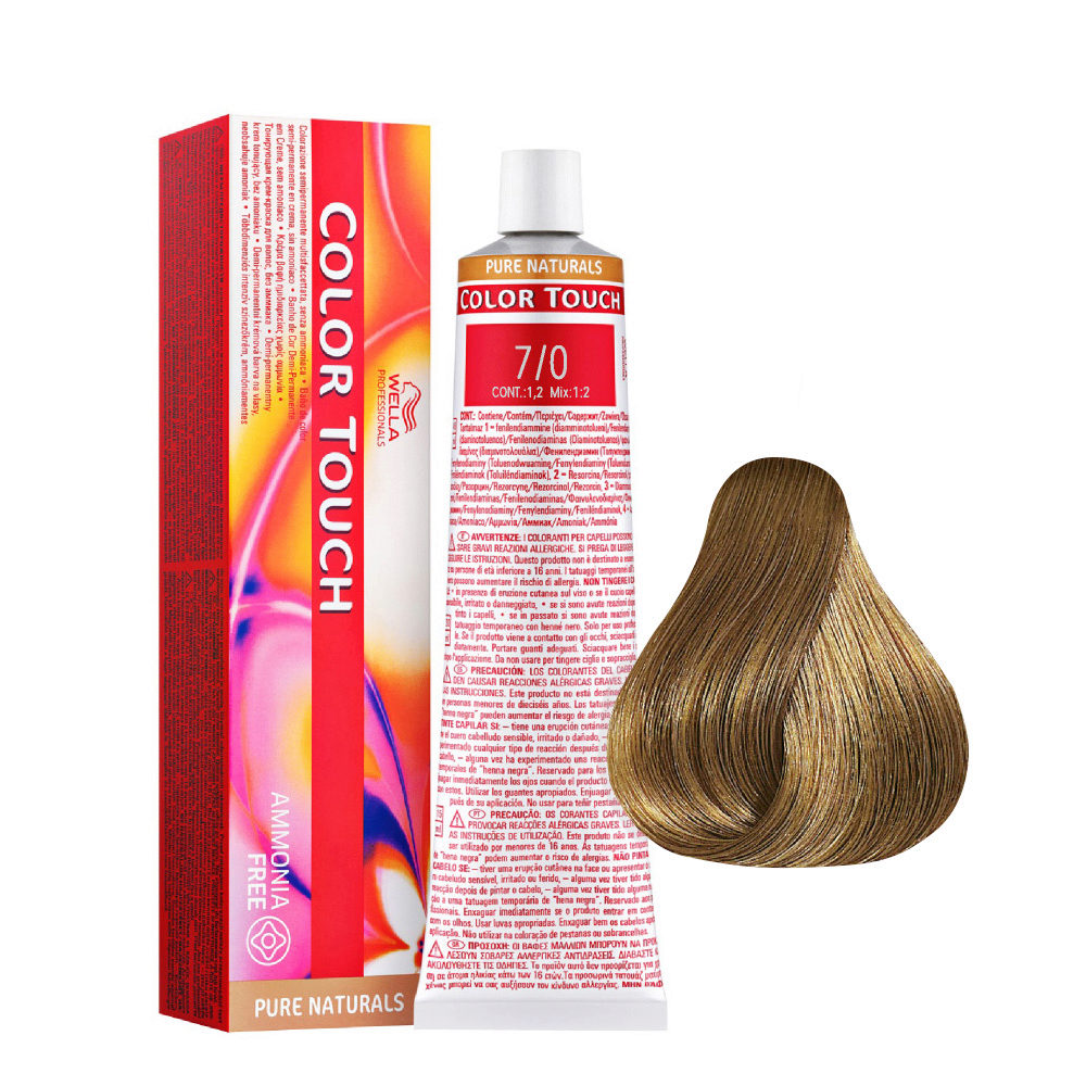 7/0 Intense Blonde Medium Wella Color Touch Pure Naturals ammonia free 60ml