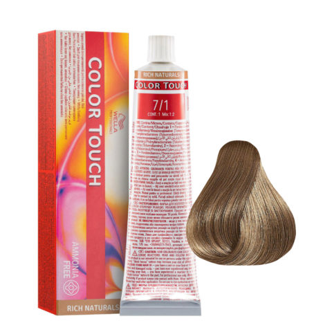 7/1 Blonde Medium Ash Wella Color Touch Rich Naturals ammonia free 60ml