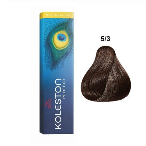5/3 Light golden brown Wella Koleston Perfect Rich Naturals 60ml