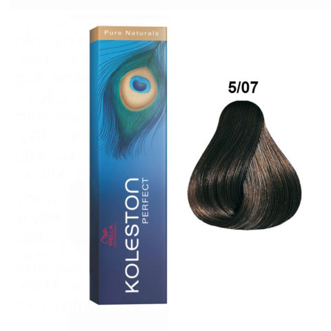 5/07 Light natural brunette brown Wella Koleston Perfect Pure Naturals 60ml