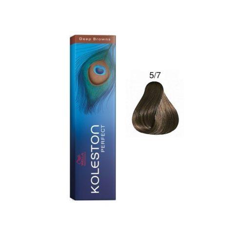 5/7 Light Brown Brown Wella Koleston Perfect 60ml