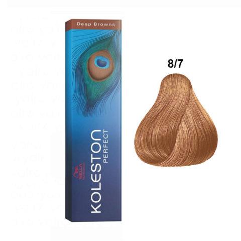 8/7 Light Brunette Blonde Wella Koleston Perfect 60ml