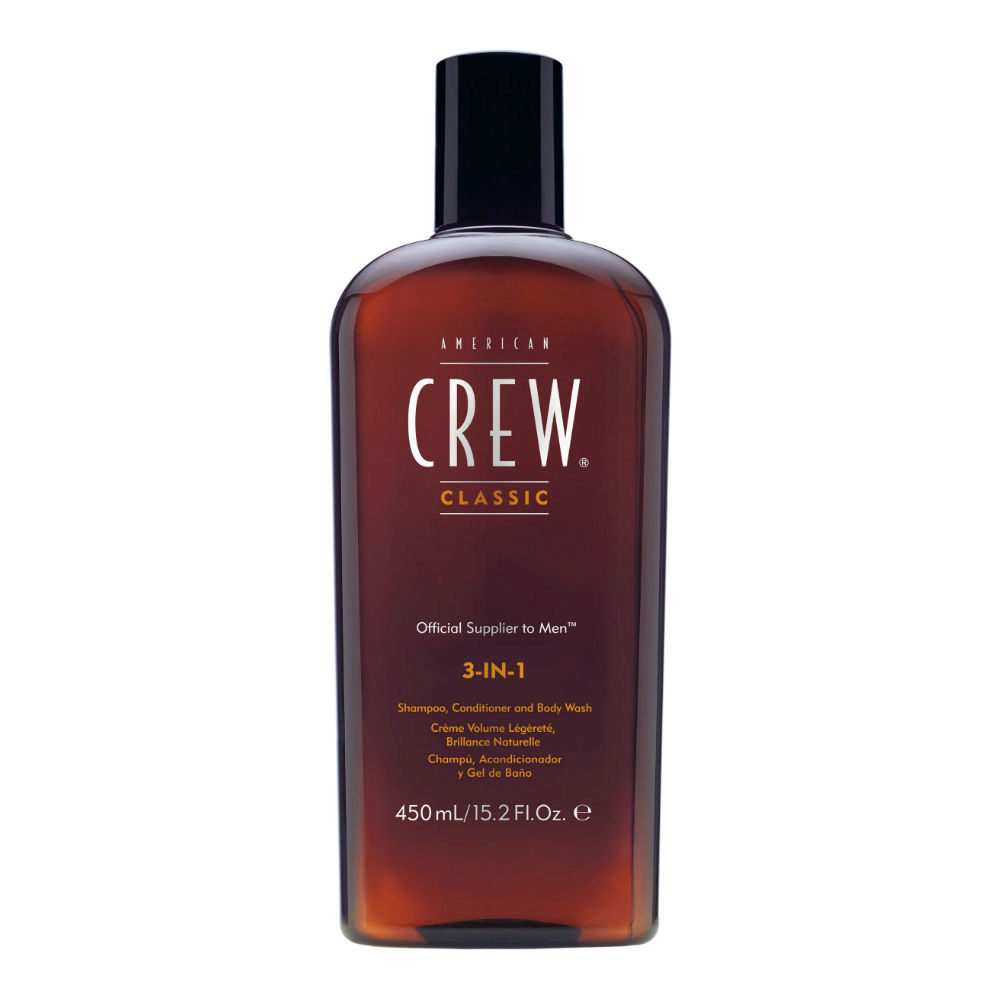 American crew Classic 3 in 1  450ml - shampoo, conditioner and gel douche