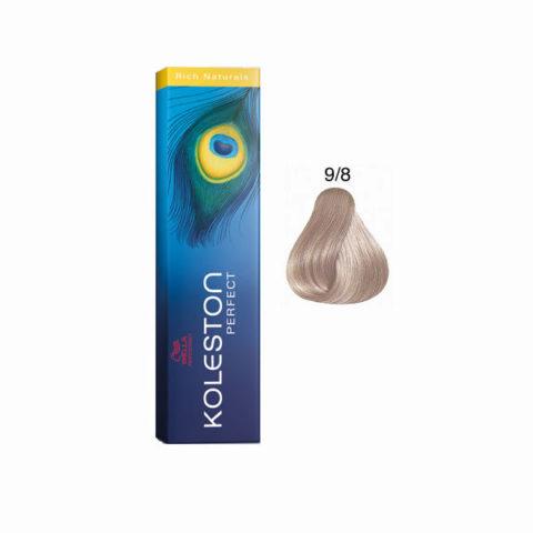 9/8 Very light pearl blonde Wella Koleston Perfect Rich Naturals 60ml