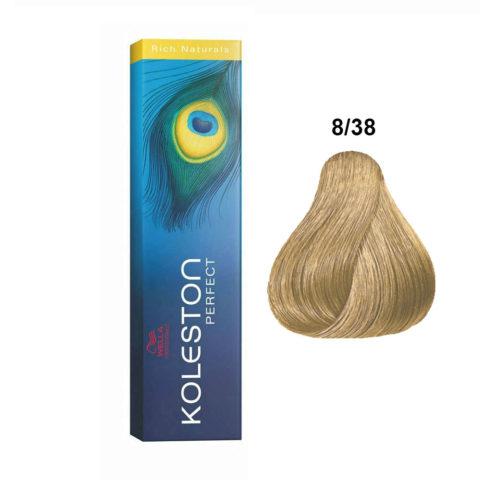 8/38 Light Gold Pearl Blonde Wella Koleston perfect Rich naturals 60ml