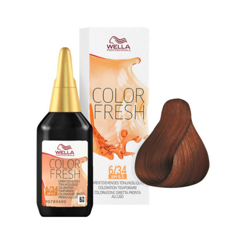 6/34 Dark gold red blonde Wella Color fresh 75ml