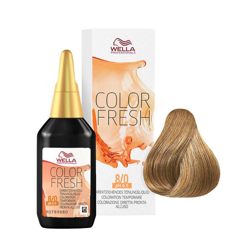 8/0 Light Blonde Wella Color fresh 75ml