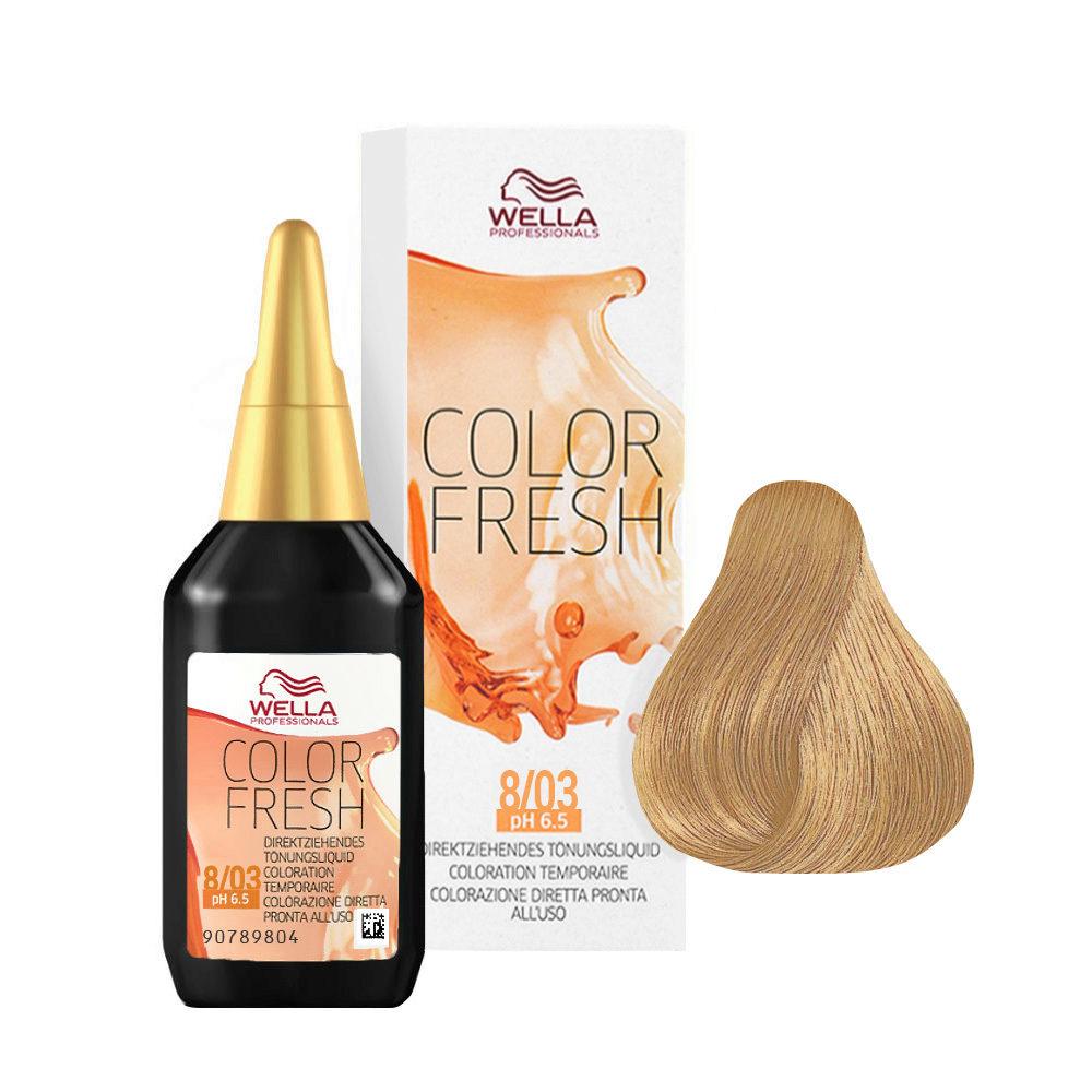 8/03 Light natural gold blonde Wella Color fresh 75ml