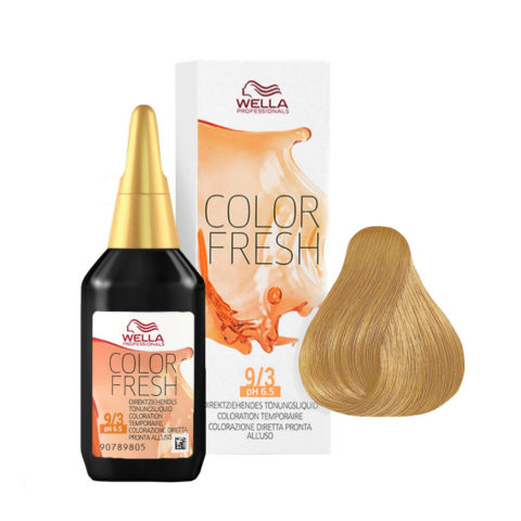 9/3 Very light golden blonde Wella Color fresh 75ml