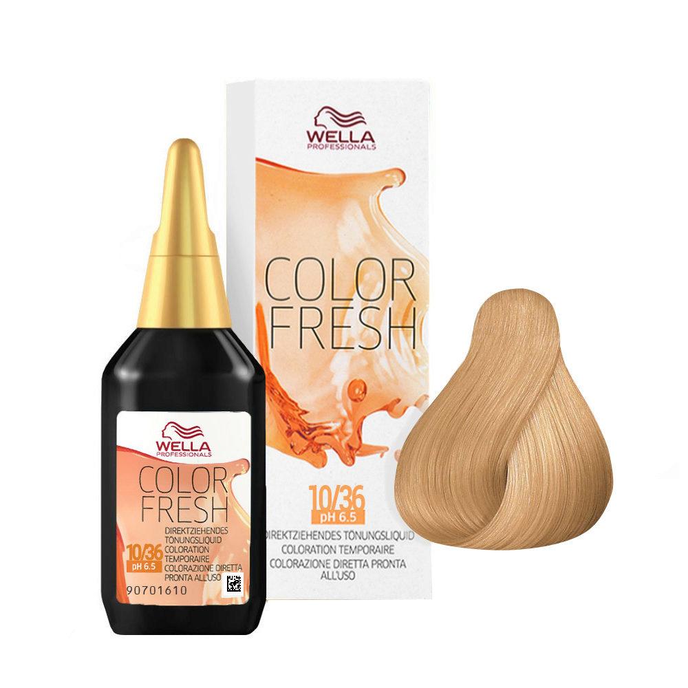 10/36 Platinum golden violet blonde Wella Color fresh 75ml