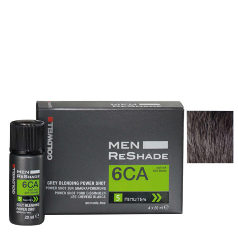 Goldwell Color men reshade 6CA cool ash dark blonde CFM 4x20ml