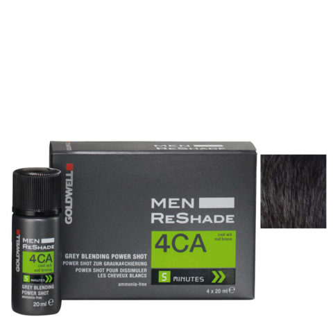 Goldwell Color men reshade 4CA cool ash mid brown 4x20ml