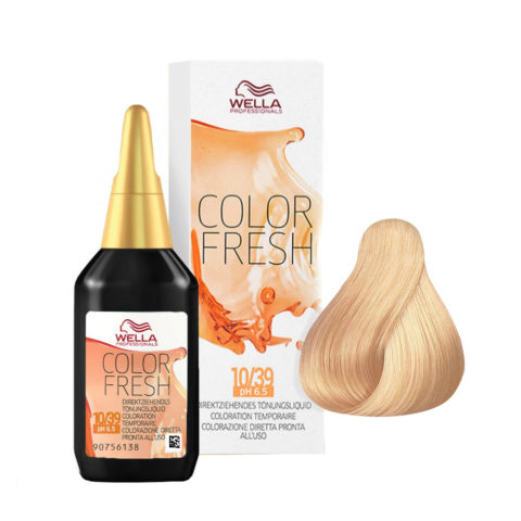 10/39 Platinum golden cendré blonde Wella Color fresh 75ml