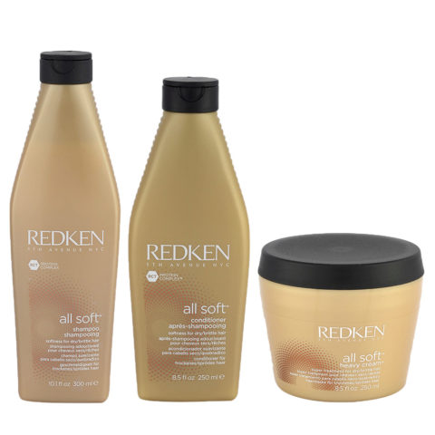 Redken Kit All soft Shampoo 300ml   Conditioner 250ml   Heavy cream 250ml