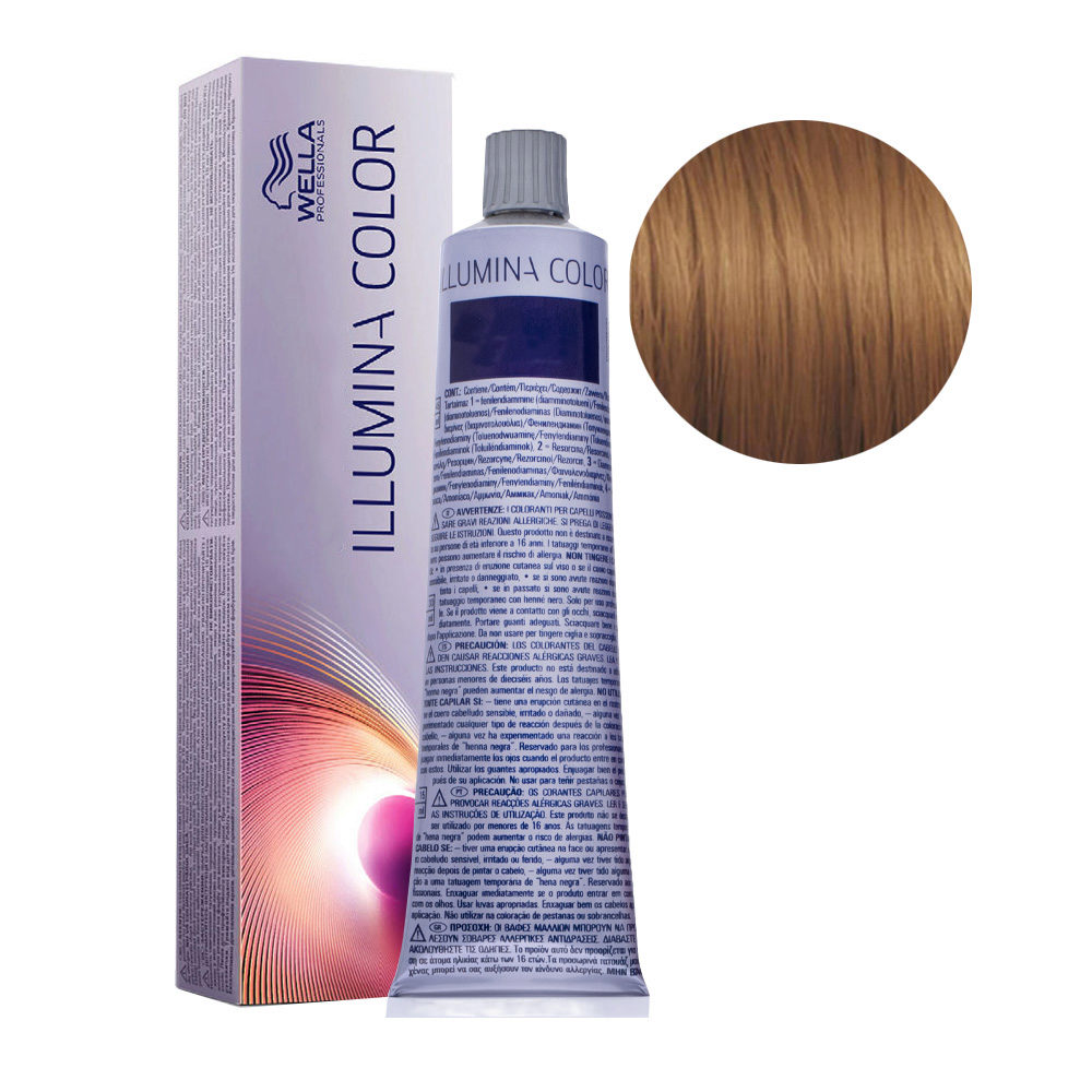 7/7 Medium Brunette Blonde Wella Illumina Color 60ml