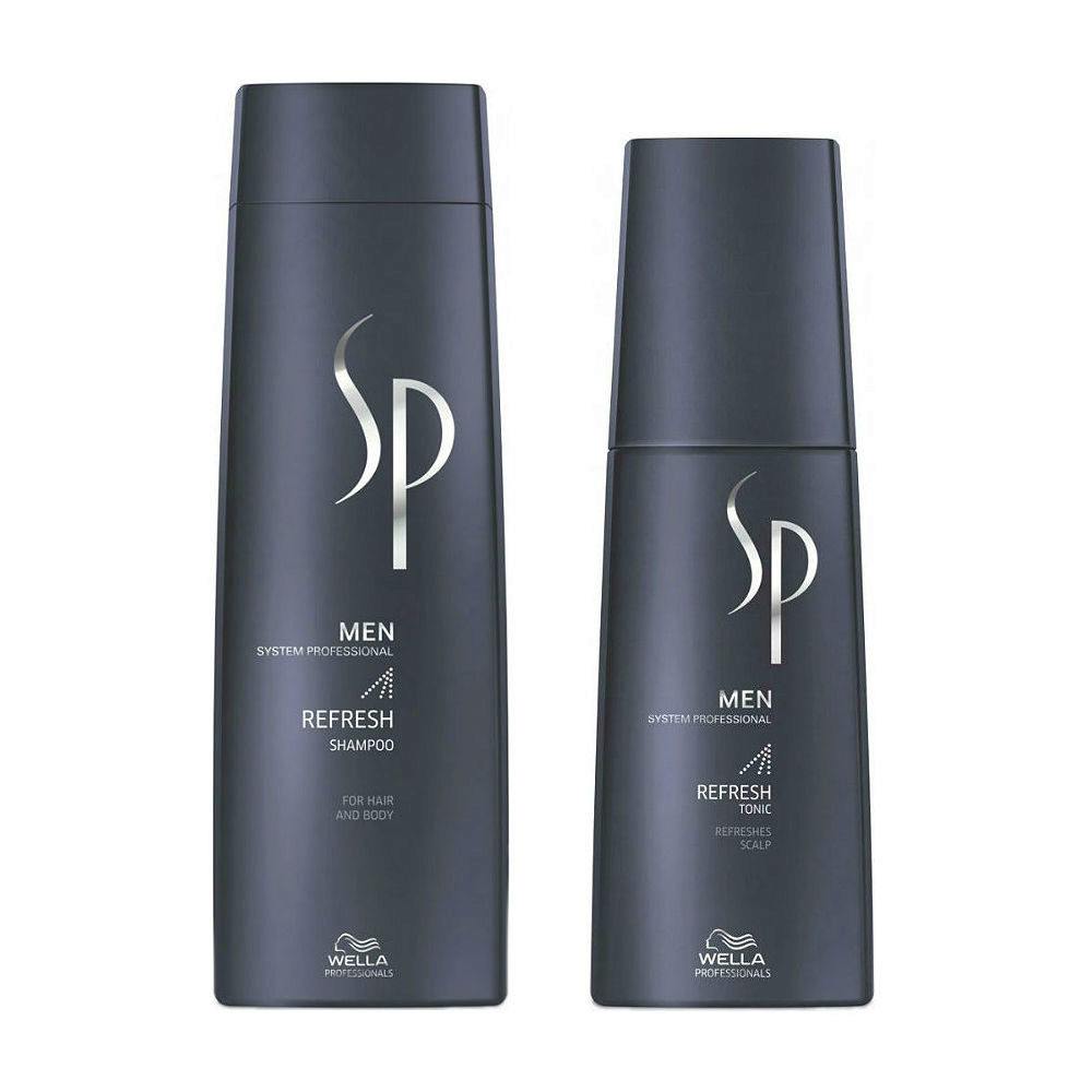 Wella SP Men Kit Refresh Shampoo 250ml  Refresh Tonic 125ml