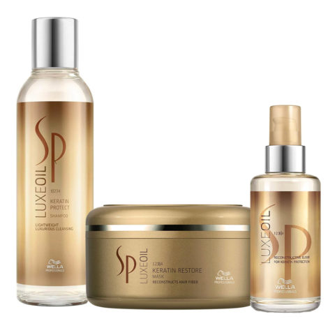 Wella SP Luxe Oil Keratine shampoo 200ml mask 150ml Elisir Luxe Oil 100ml