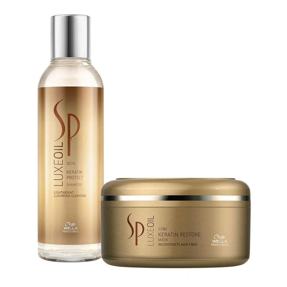 Wella SP Kit1 Luxe Oil Keratine protect shampoo 200ml   Keratin restore mask 150ml