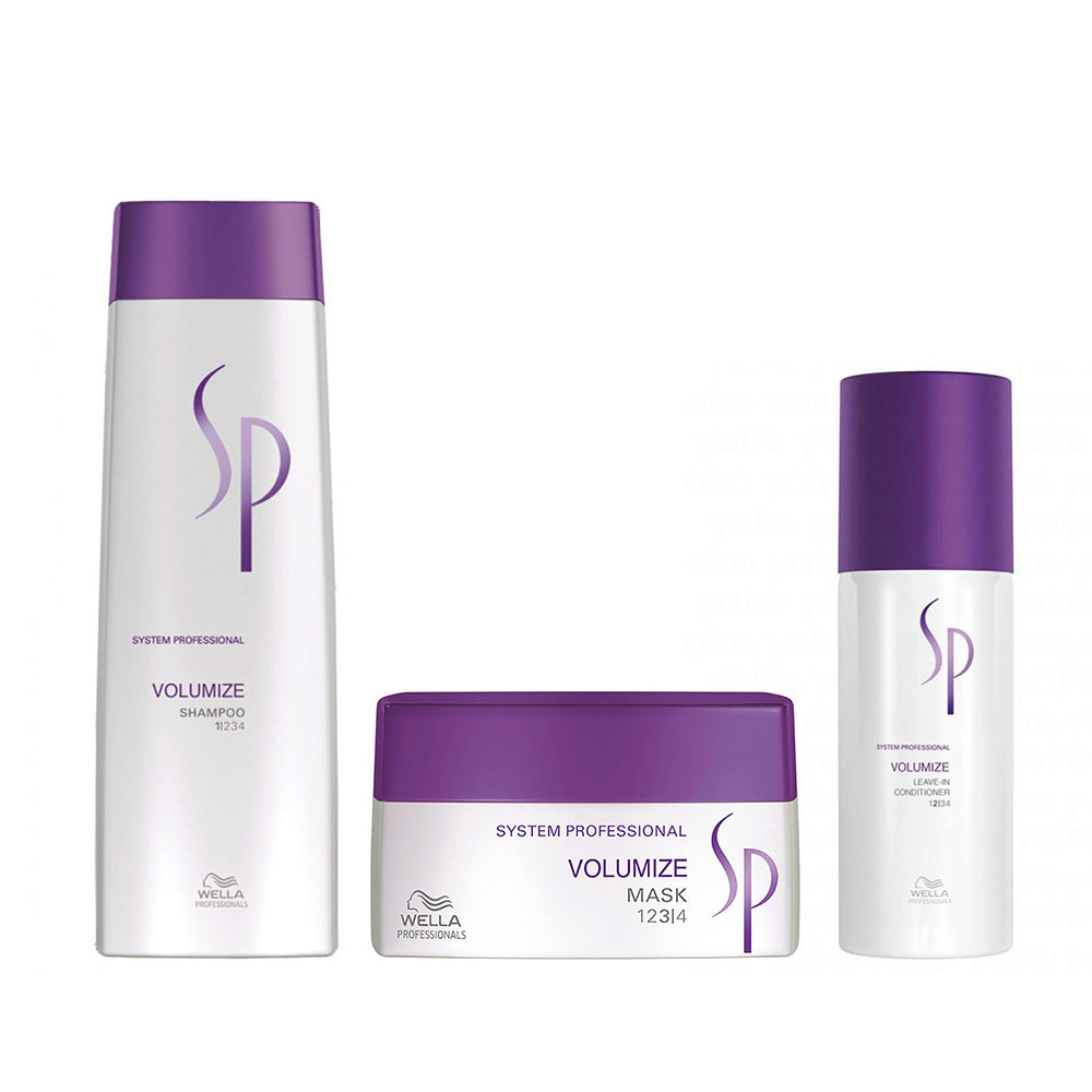 Wella System professional Kit Volumize Shampoo 250ml Mask 200ml Leave-in conditioner 150ml