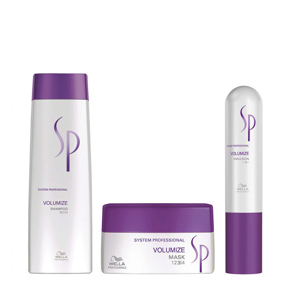 Wella System professional Kit Volumize Shampoo 250ml  Mask 200ml  Emulsion 50ml