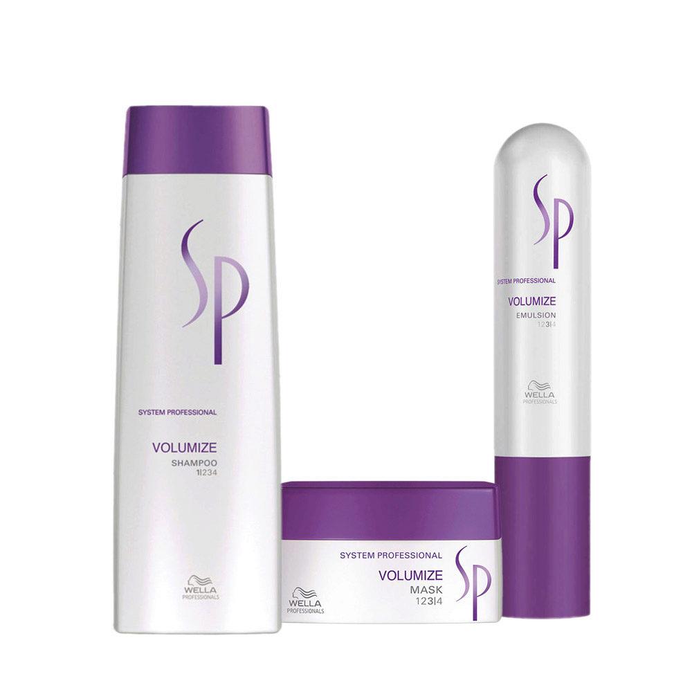 Wella System professional Kit Volumize Shampoo 250ml  Mask 200ml  Emulsion 50ml