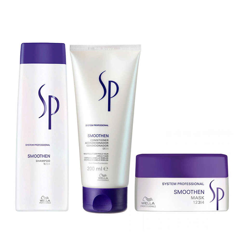 Wella SP Kit Smoothen Shampoo 250ml   Smoothen Conditioner  200ml   Smoothen Mask 200 ml