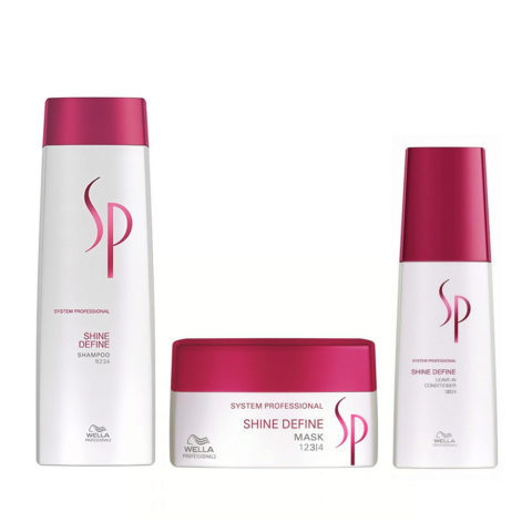Wella System professional Kit Shine Define Shampoo 250ml  Mask 200ml  Leave-in conditioner 125ml