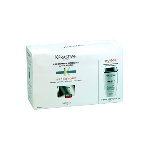 Kerastase Kit anticaduta aminexil 30 fiale più bain Prevention capelli normali