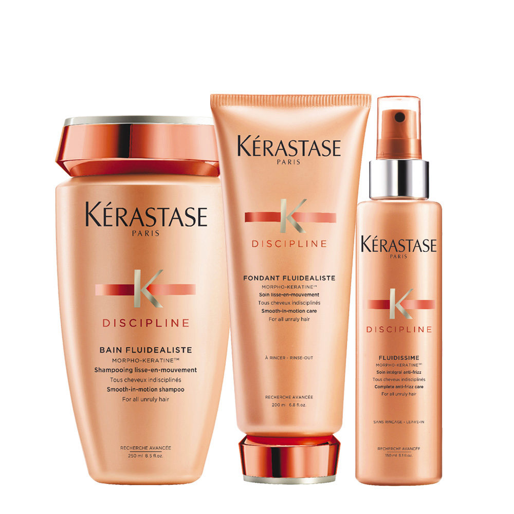 Kerastase Discipline Kit Bain 250ml Fondant 200ml Fluidissime spray 150ml