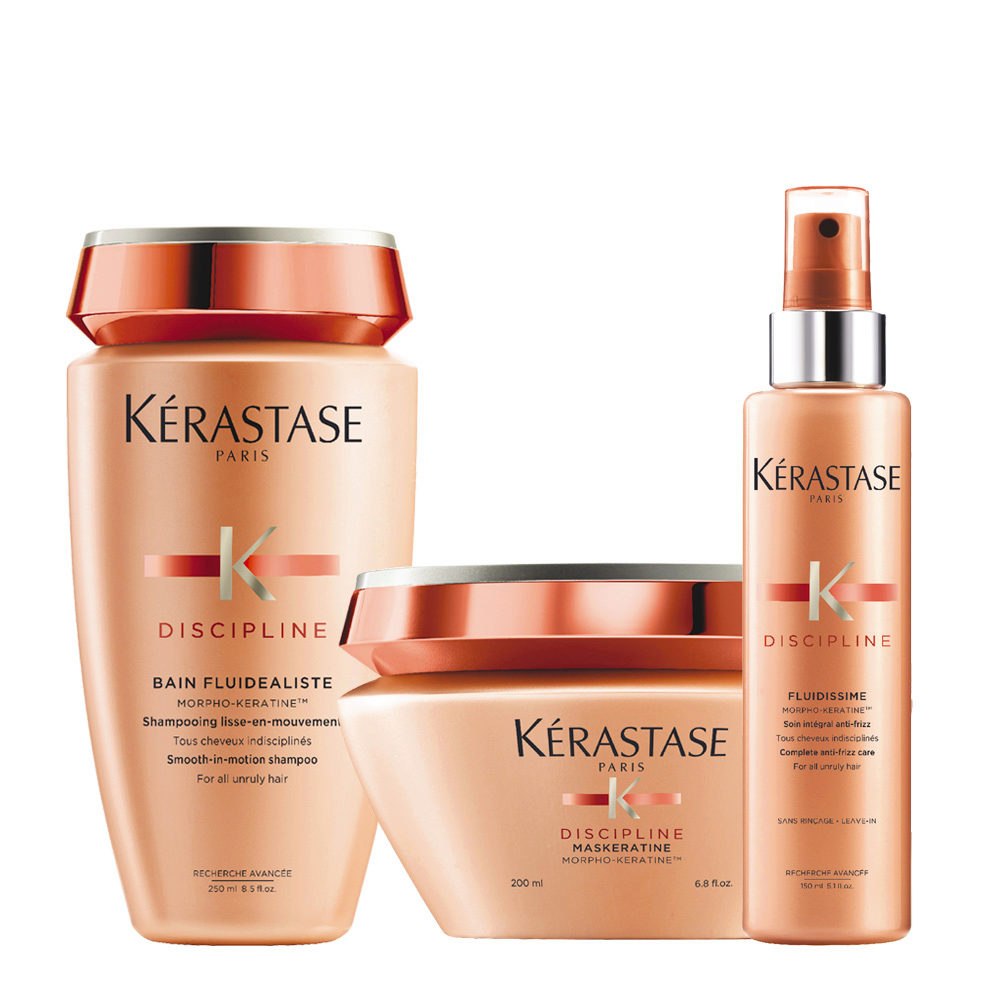 Kerastase Discipline Kit Bain 250ml Maskeratine 200ml Fluidissime spray 150ml