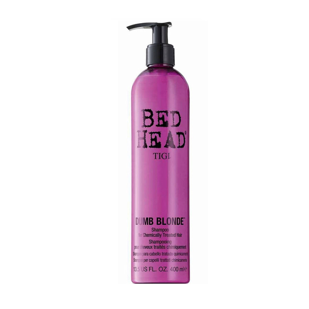 Tigi Bed Head Dumb Blonde Shampoo 400ml - treated blonde hair