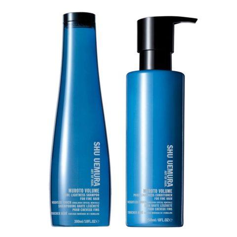 Shu Uemura Kit1 Muroto Volume Shampoo 300ml Conditioner 250ml