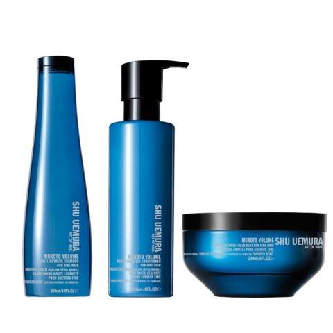 Shu Uemura Kit2 Muroto Volume Shampoo 300ml Conditioner 250ml Mask 200ml