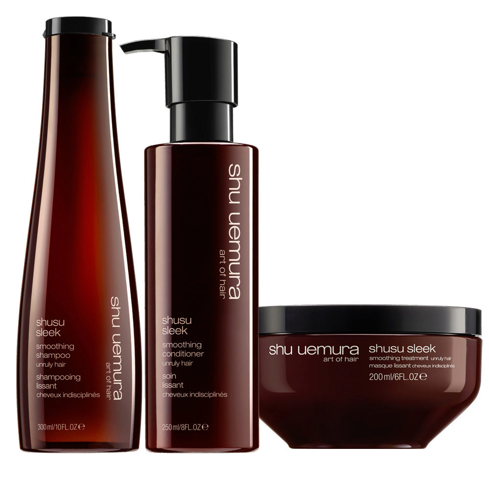 Shu Uemura Shusu Sleek Shampoo 300ml Conditioner 250ml Mask 200ml