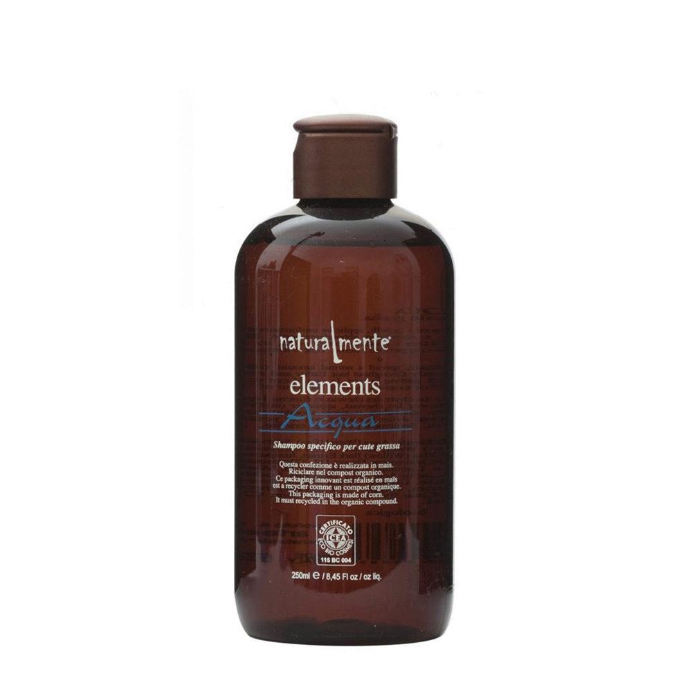 Naturalmente Elements Shampoo acqua cute grassa 250ml