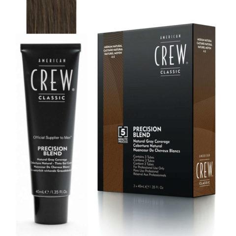American Crew Classic Precision Blend 4-5 medium natural brown 3x40ml